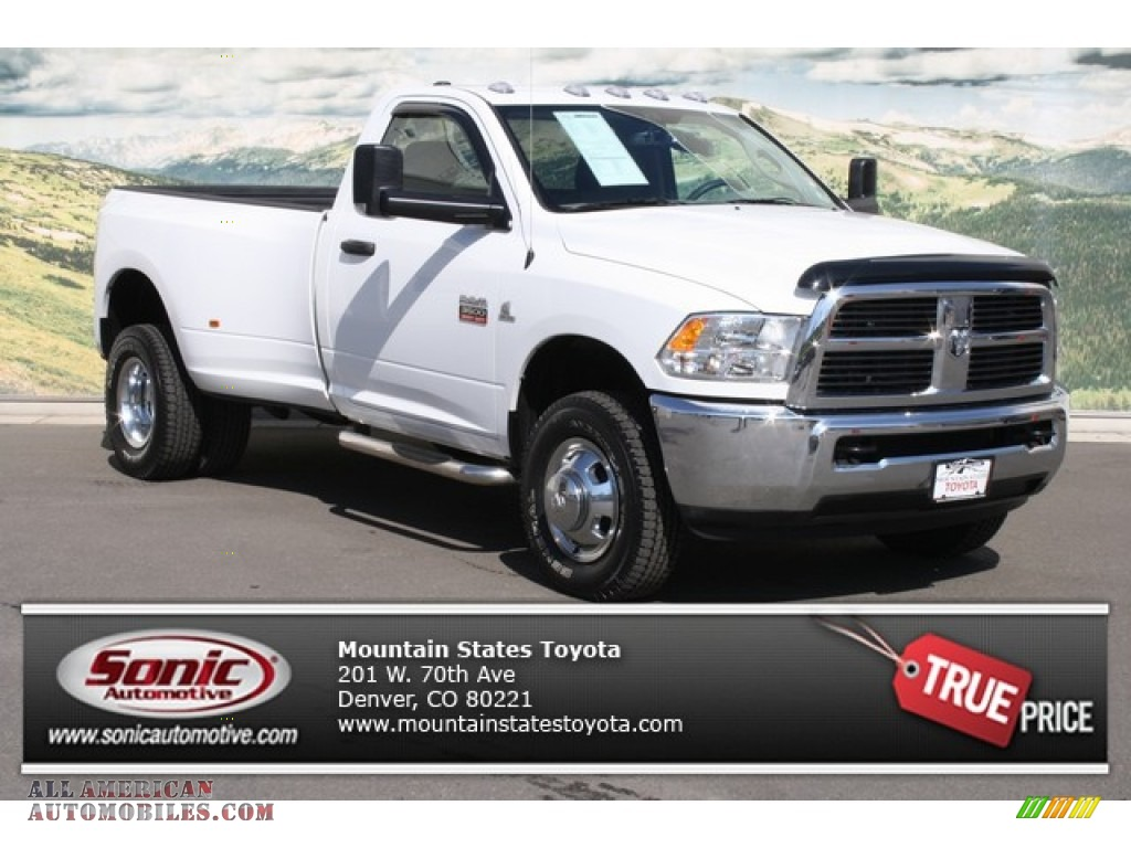 Dodge Ram 3500 2013 White Dodge Ram 3500 hd st Regular