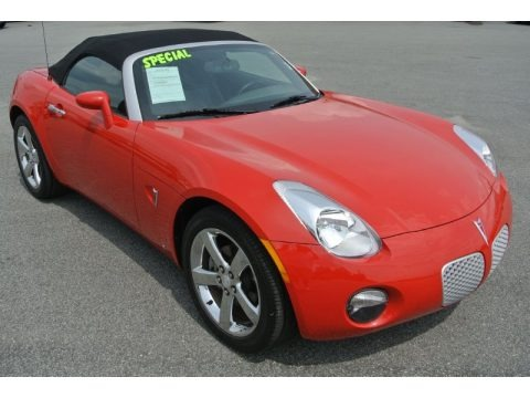 Aggressive Red 2007 Pontiac Solstice Roadster