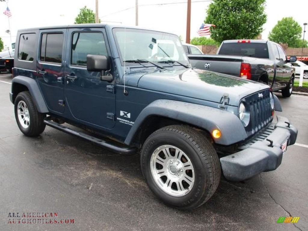2007 Jeep Wrangler Unlimited X In Steel Blue Metallic