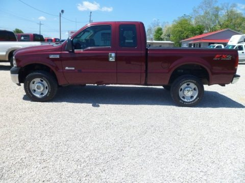Dark Toreador Red Metallic 2006 Ford F350 Super Duty XL SuperCab 4x4