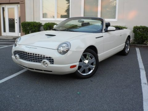 Whisper White 2002 Ford Thunderbird Premium Roadster