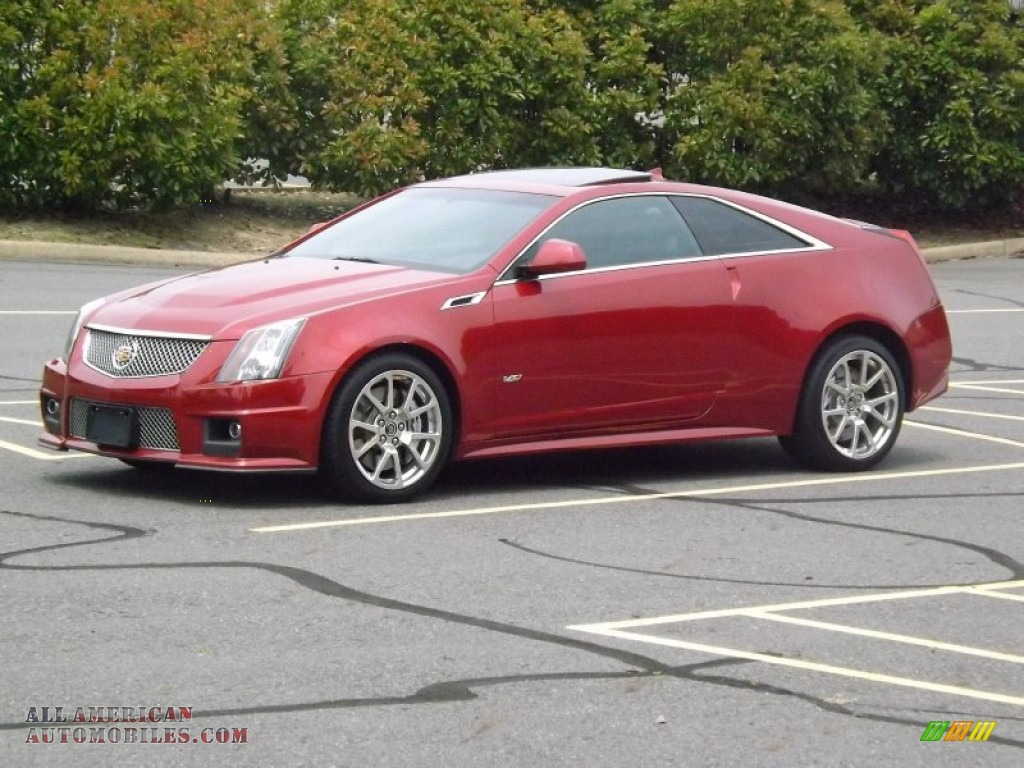 2011 cadillac cts v coupe in crystal red tintcoat photo 7 132821 all american automobiles. Black Bedroom Furniture Sets. Home Design Ideas