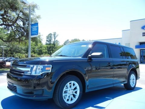 Tuxedo Black Metallic 2013 Ford Flex SE