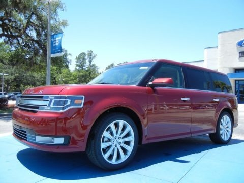 Ruby Red Metallic 2013 Ford Flex Limited