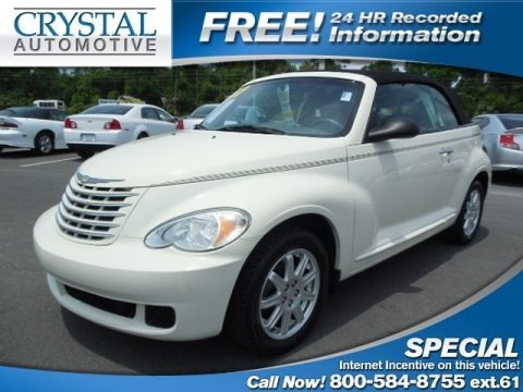 Cool Vanilla White 2007 Chrysler PT Cruiser Convertible