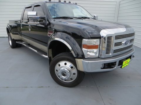 Black 2008 Ford F450 Super Duty Lariat Crew Cab 4x4 Dually