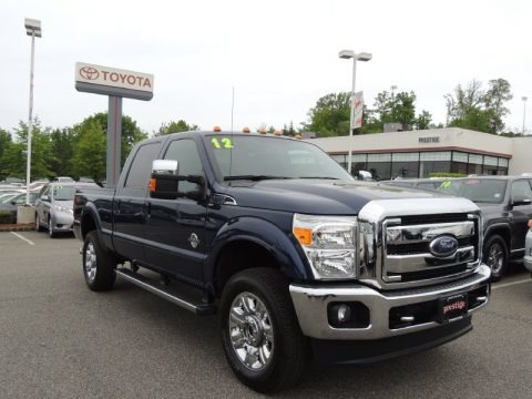 Dark Blue Pearl Metallic 2012 Ford F350 Super Duty Lariat Crew Cab 4x4
