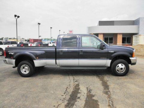 Deep Wedgewood Blue Metallic 2000 Ford F350 Super Duty XLT Crew Cab 4x4 Dually
