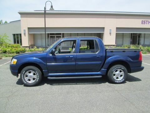 Dark Blue Pearl Metallic 2004 Ford Explorer Sport Trac XLT 4x4