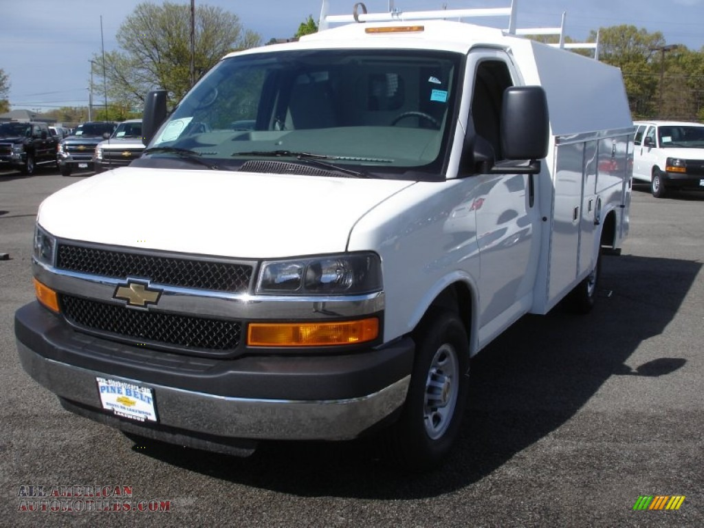 2013 chevrolet express cutaway 3500 utility van in summit white photo 4 153584 all american. Black Bedroom Furniture Sets. Home Design Ideas