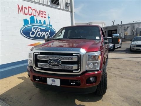 Ruby Red Metallic 2013 Ford F250 Super Duty Platinum Crew Cab 4x4