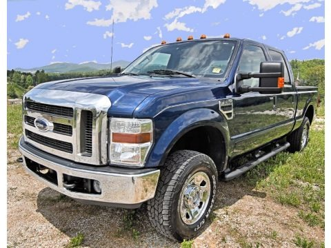 Dark Blue Pearl Metallic 2008 Ford F250 Super Duty XLT Crew Cab 4x4