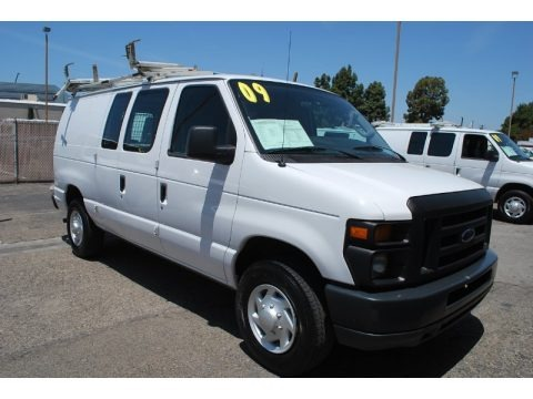 Oxford White 2009 Ford E Series Van E250 Super Duty Commercial