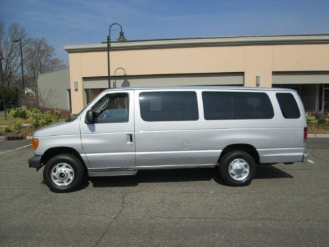 Silver Metallic 2006 Ford E Series Van E350 XL 15 Passenger