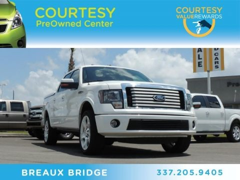 White Platinum Metallic Tri-Coat 2011 Ford F150 Limited SuperCrew 4x4