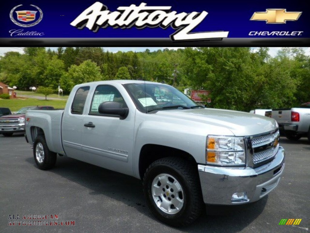 2013 chevrolet silverado 1500 lt extended cab 4x4 in silver ice metallic 369858 all american. Black Bedroom Furniture Sets. Home Design Ideas