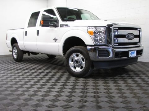 Oxford White 2012 Ford F250 Super Duty XL Crew Cab 4x4