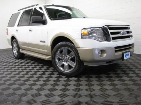 Oxford White 2007 Ford Expedition Eddie Bauer 4x4