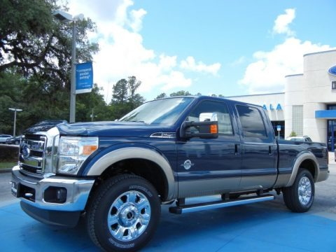 Blue Jeans Metallic 2013 Ford F250 Super Duty Lariat Crew Cab 4x4