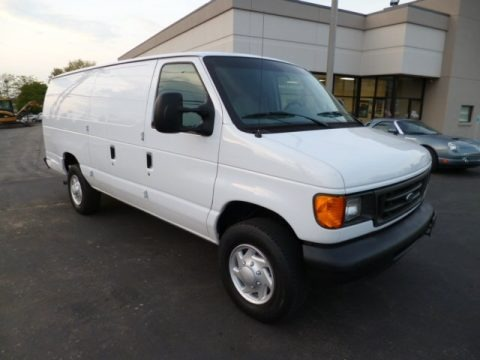 Oxford White 2007 Ford E Series Van E250 Cargo