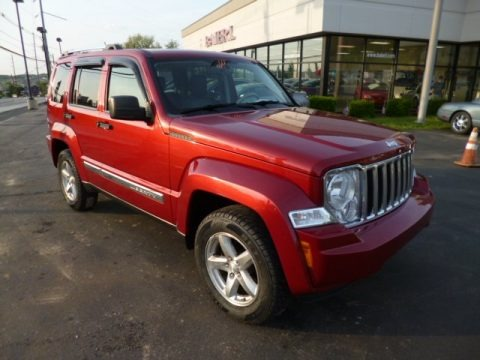 Inferno Red Crystal Pearl 2008 Jeep Liberty Limited 4x4