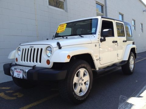 Stone White 2010 Jeep Wrangler Unlimited Sahara 4x4