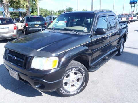 Black Clearcoat 2004 Ford Explorer Sport Trac XLT 4x4
