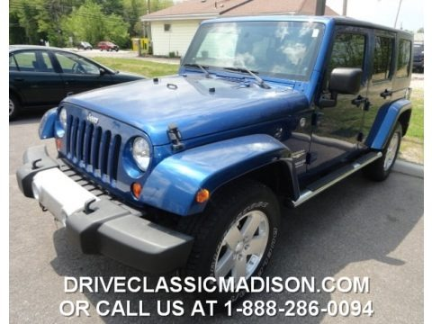 Deep Water Blue Pearl 2009 Jeep Wrangler Unlimited Sahara 4x4