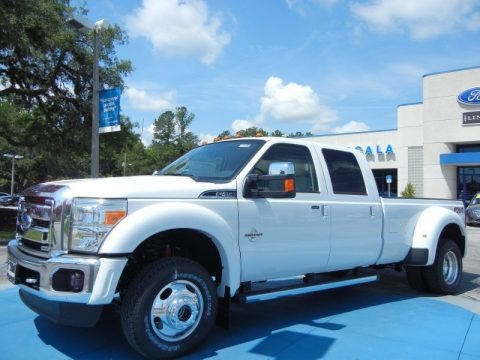 Oxford White 2013 Ford F450 Super Duty Lariat Crew Cab 4x4