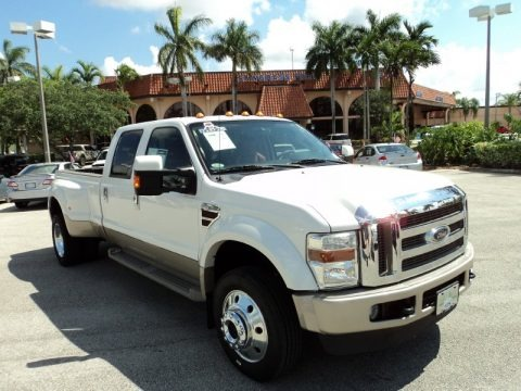 Oxford White 2010 Ford F450 Super Duty King Ranch Crew Cab 4x4 Dually