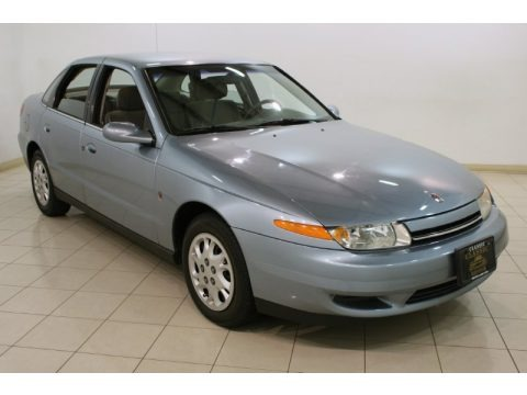 Silver Blue 2002 Saturn L Series L200 Sedan