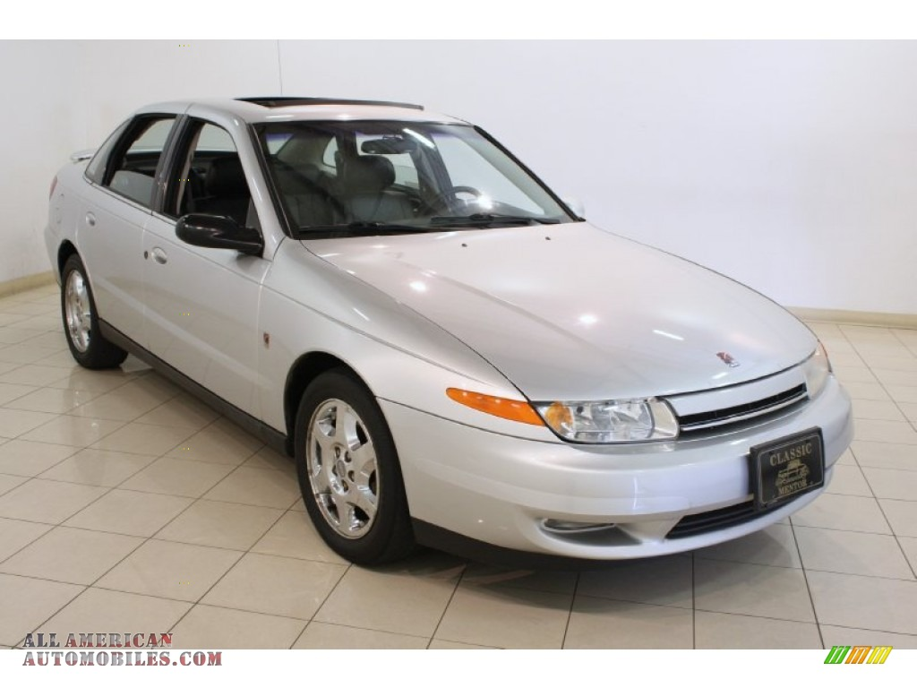 2002 saturn l series l300 sedan in bright silver 579467 all american automobiles buy. Black Bedroom Furniture Sets. Home Design Ideas