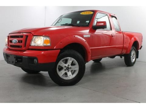 Torch Red 2006 Ford Ranger Sport SuperCab 4x4