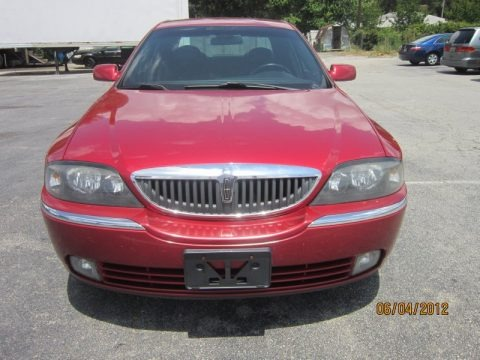 Vivid Red Metallic 2005 Lincoln LS V6 Luxury