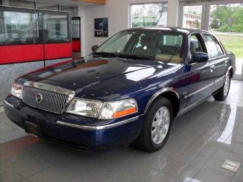 Dark Blue Pearl Metallic 2004 Mercury Grand Marquis LS
