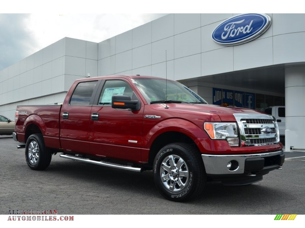 2013 ford f150 xlt supercrew 4x4 in ruby red metallic c61663 all american automobiles buy. Black Bedroom Furniture Sets. Home Design Ideas