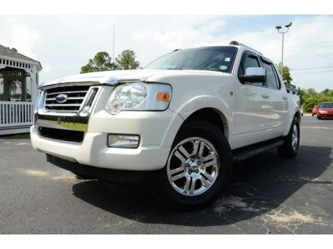 White Suede 2008 Ford Explorer Sport Trac Limited 4x4