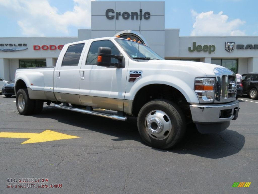 2010 ford f350 super duty lariat crew cab 4x4 dually in oxford white a79088 all american. Black Bedroom Furniture Sets. Home Design Ideas