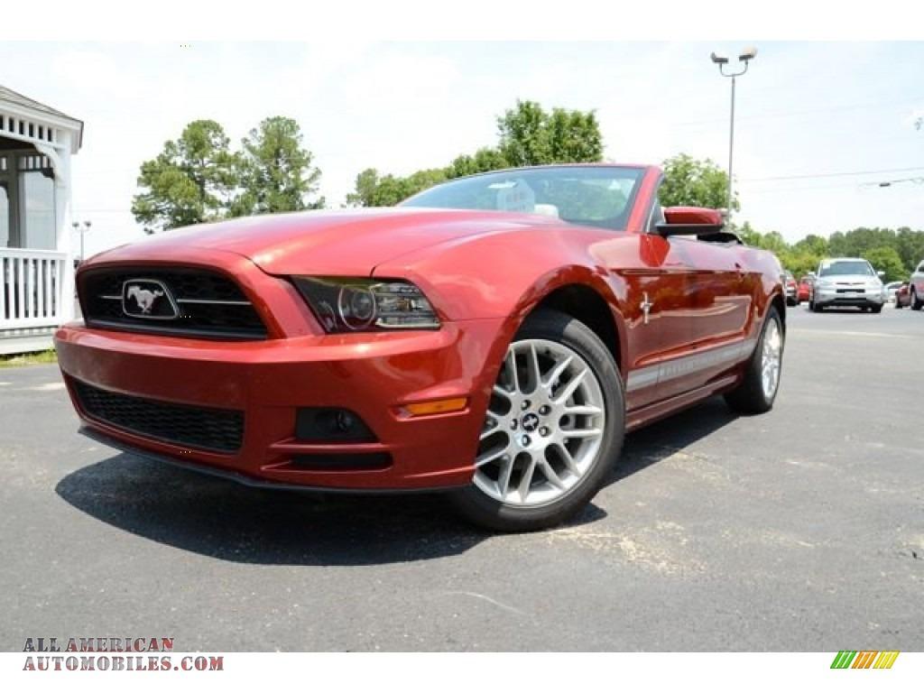 2014 Mustang V6 Premium Convertible - Ruby Red / Medium Stone photo #1