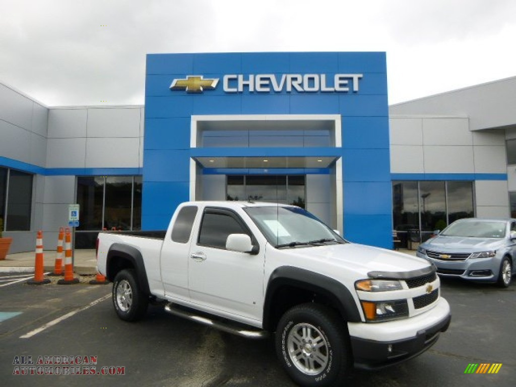 2009 chevrolet colorado lt extended cab 4x4 in summit white 157071 all american automobiles. Black Bedroom Furniture Sets. Home Design Ideas