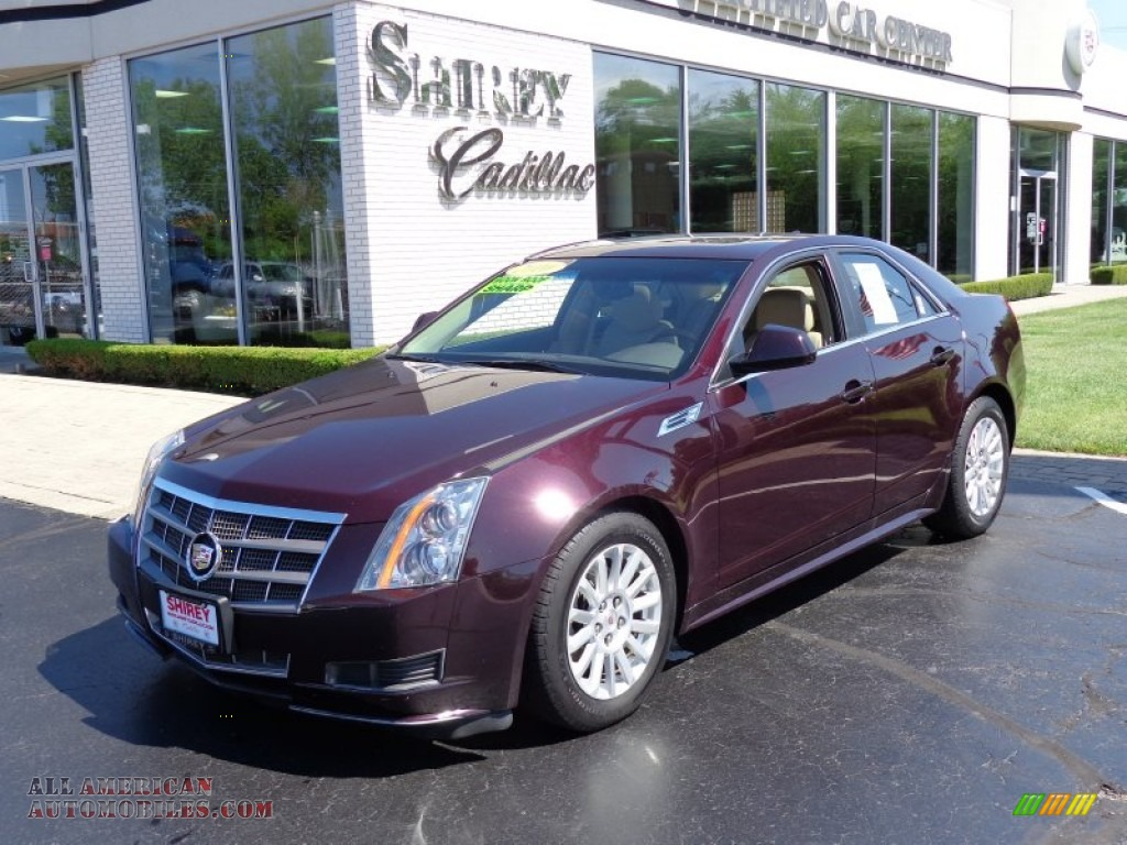 2010 cadillac cts 4 3 0 awd sedan in black cherry 137402. Black Bedroom Furniture Sets. Home Design Ideas