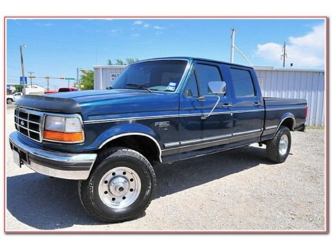 Dark Tourmaline Metallic 1997 Ford F250 XLT Crew Cab 4x4