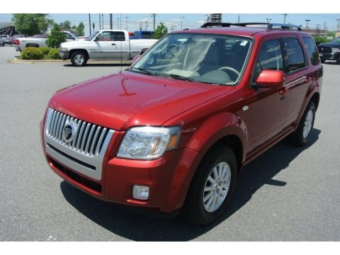 Sangria Red Metallic 2009 Mercury Mariner Premier