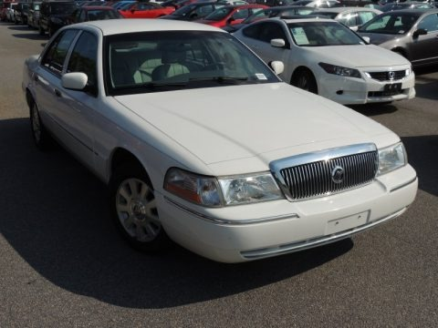 Vibrant White 2004 Mercury Grand Marquis LS