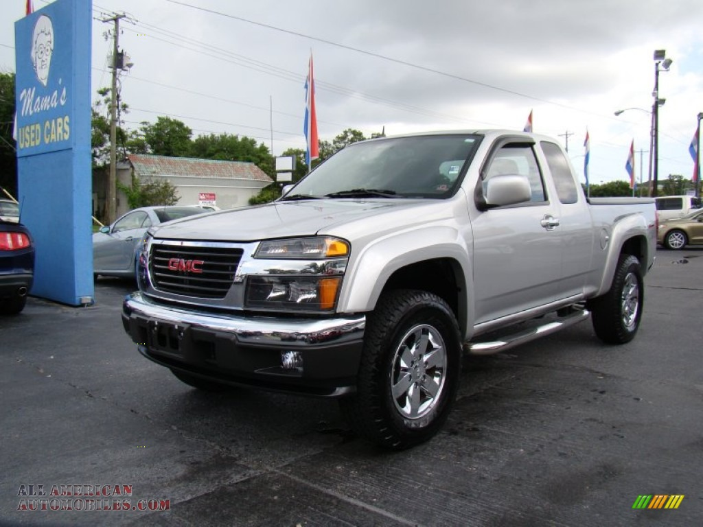2010 gmc canyon sle extended cab 4x4 in pure silver metallic photo 4 134233 all american. Black Bedroom Furniture Sets. Home Design Ideas
