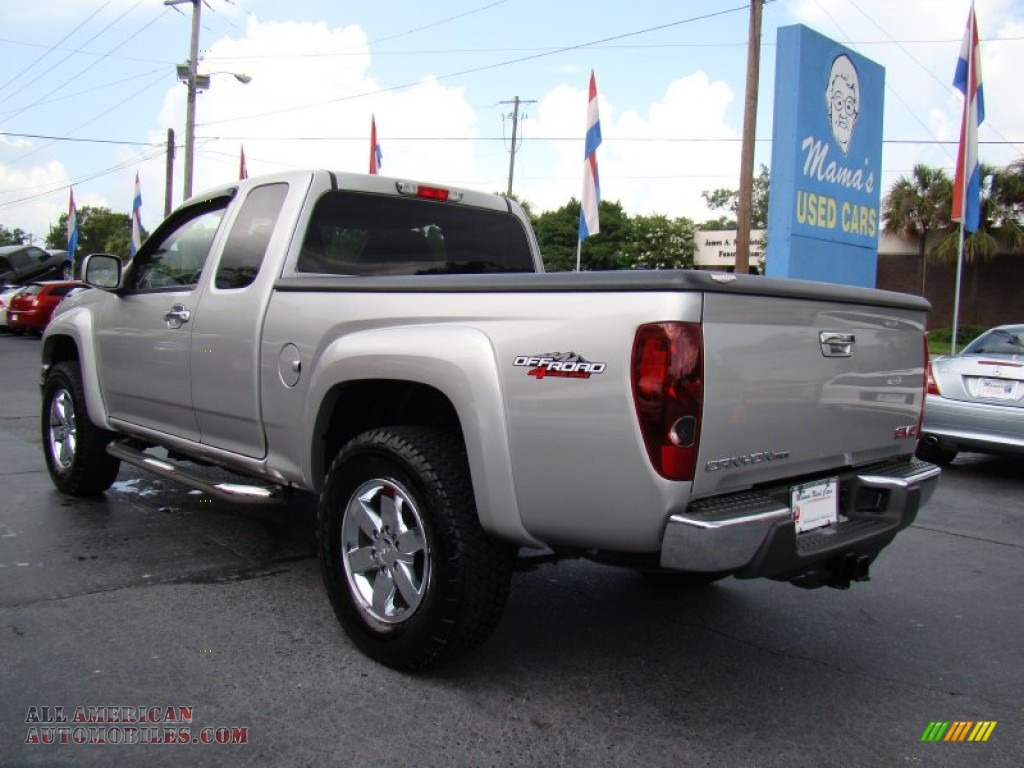 2010 gmc canyon sle extended cab 4x4 in pure silver metallic photo 6 134233 all american. Black Bedroom Furniture Sets. Home Design Ideas