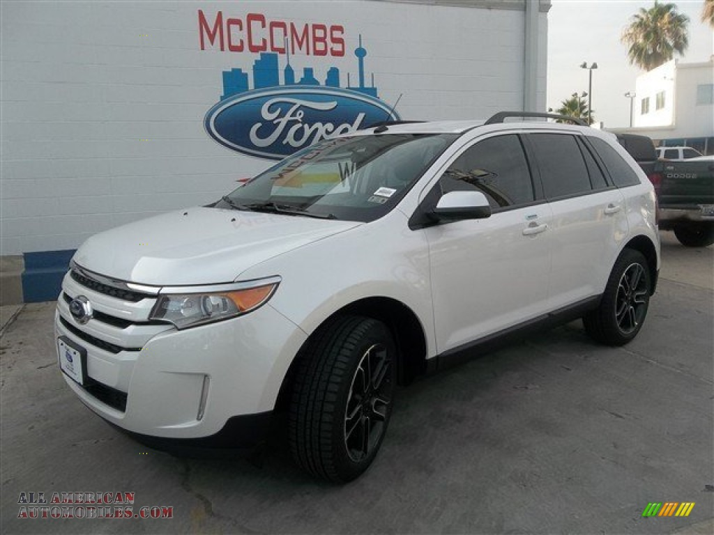 2013 ford edge sel in white platinum tri coat c58127 all american automobiles buy american. Black Bedroom Furniture Sets. Home Design Ideas