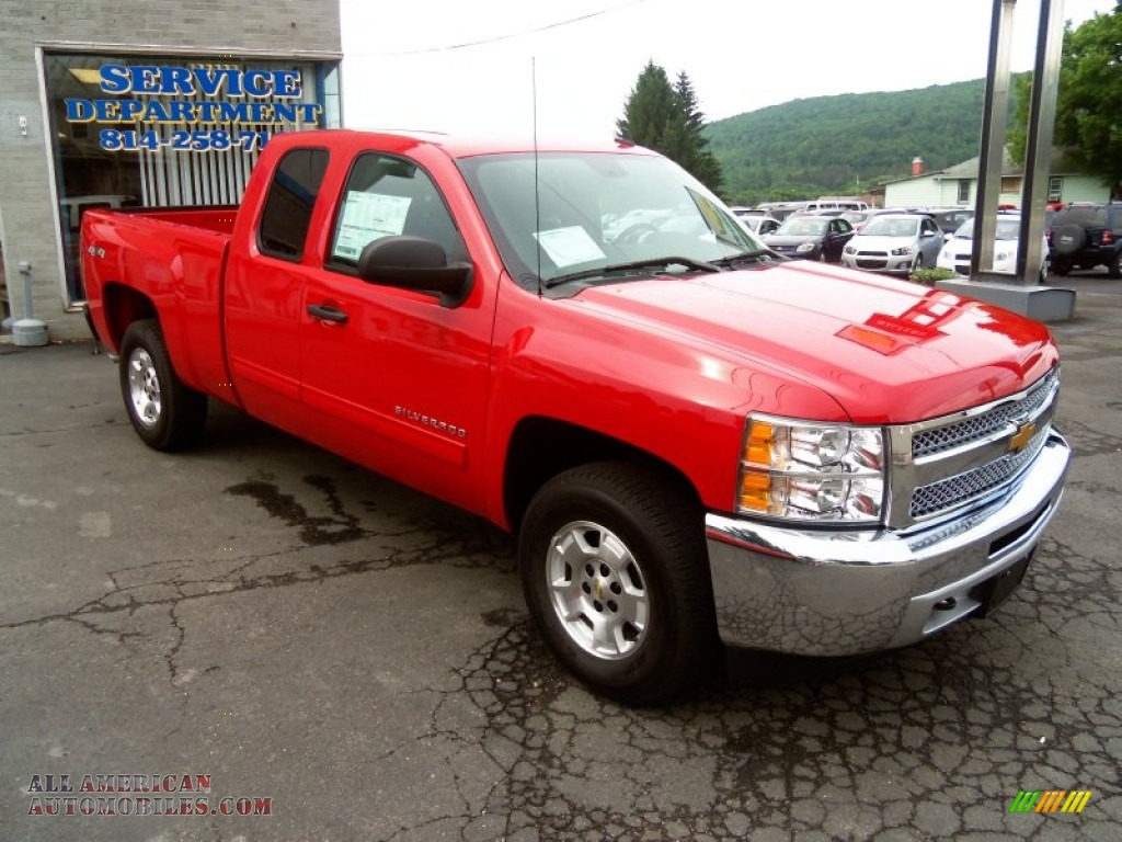 2013 chevrolet silverado 1500 lt extended cab 4x4 in victory red 364391 all american. Black Bedroom Furniture Sets. Home Design Ideas