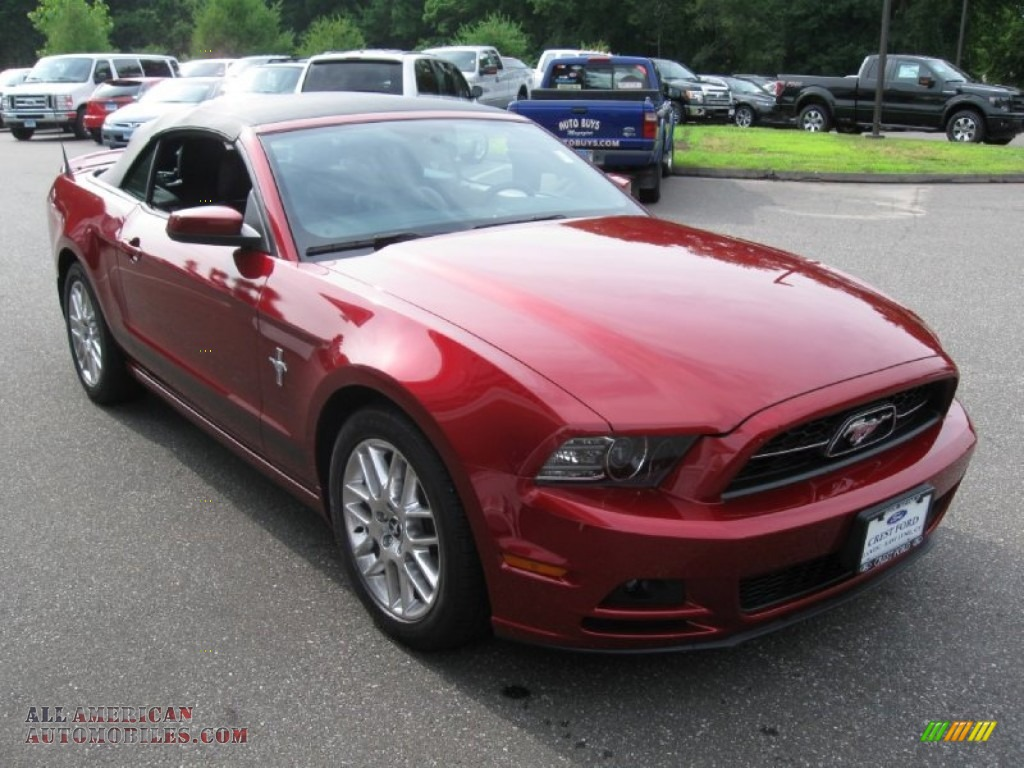 2014 ford mustang v6 premium convertible in ruby red 211521 all american automobiles buy. Black Bedroom Furniture Sets. Home Design Ideas