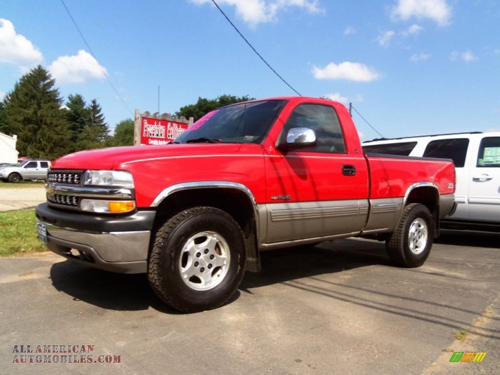 2002 chevrolet silverado 1500 ls regular cab 4x4 in victory red 144572 all american. Black Bedroom Furniture Sets. Home Design Ideas
